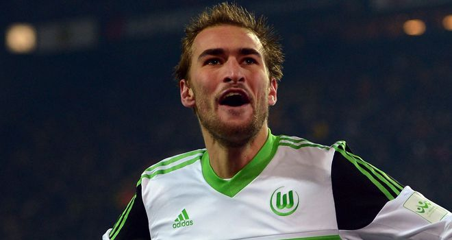 Bas Dost wheels off after netting Wolfsburg's winner