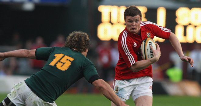 Brian O'Driscoll: Skips past Frans Steyn during the Lions' 2009 tour of South Africa