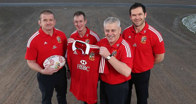 Graham Rowntree, Rob Howley, Warren Gatland and Andy Farrell (l-r): Lions coaching team