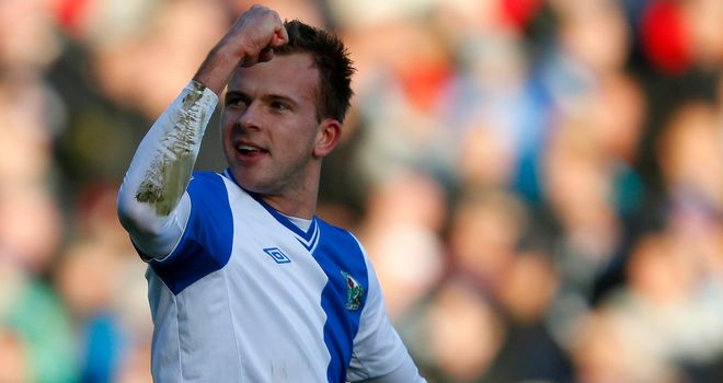 Jordan Rhodes: Scored Rovers' third goal