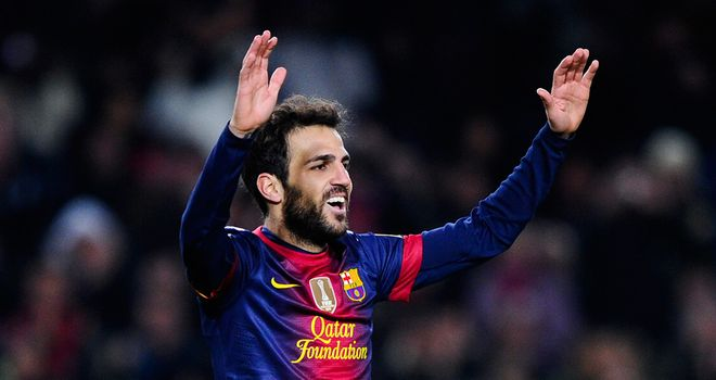 Cesc Fabregas: Happy to stay at Barcelona
