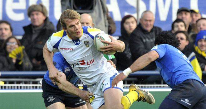 Aurelien Rougerie: Clermont winger on the charge