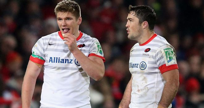 Owen Farrell (L): Will play at fly-half instead of in the centres