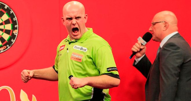 Michael van Gerwen: Struggled on his doubles but still progressed through to round two