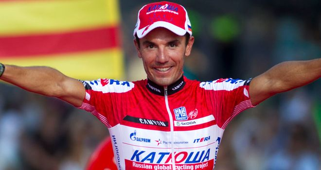 Joaquin Rodriguez: celebrates in Madrid during this year's Vuelta