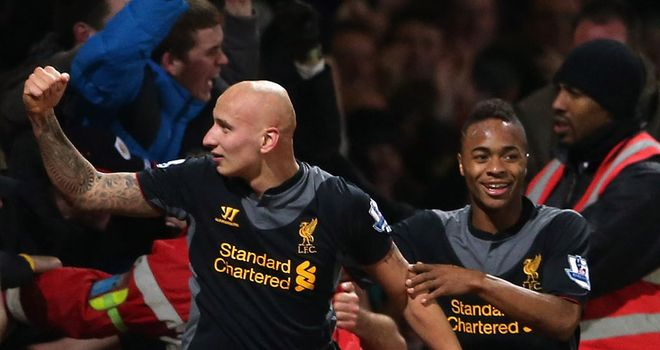 Jonjo Shelvey: Celebrates being involved in Liverpool&#39;s winner