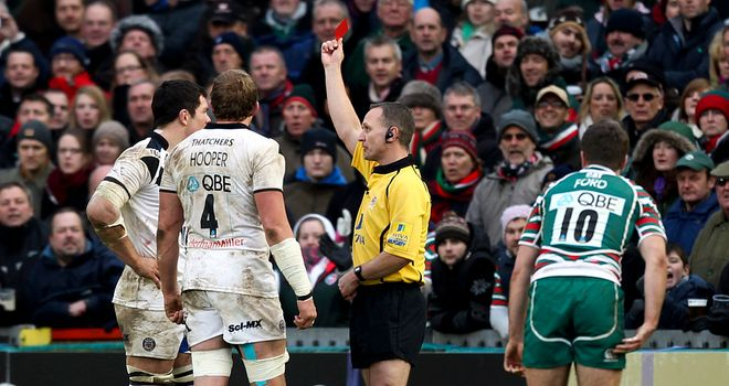 Francois Louw becomes first player of three sent off in Leicester v Bath match