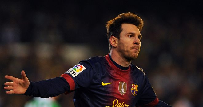 Lionel Messi: Has scored 86 goals so far in 2012
