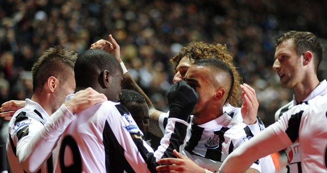 Celebrations for Newcastle as they bagged a long overdue win