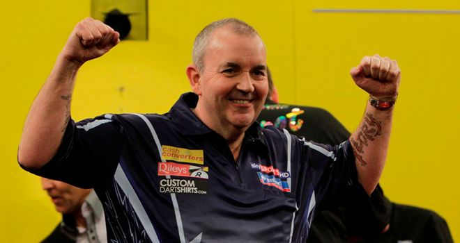 Phil Taylor: Stormed to victory over Huybrechts in the final