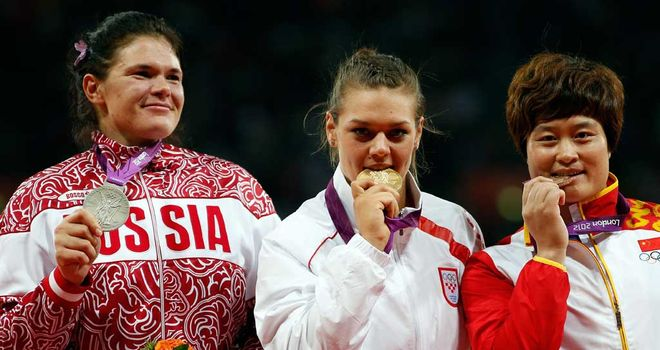Darya Pishchalnikova (left): Could lose Olympic silver