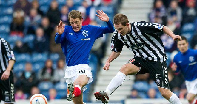 Dean Shiels: Injured Rangers forward in action against Elgin earlier in the season