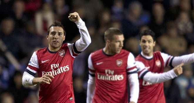 Santi Cazorla (L): Was in irresistable form against Reading