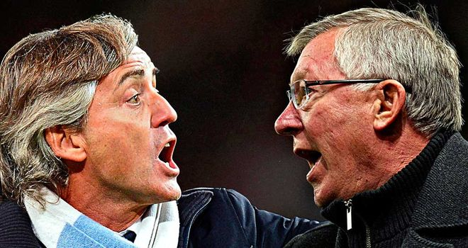 Roberto Mancini & Sir Alex Ferguson: City came out second best to United on Sunday