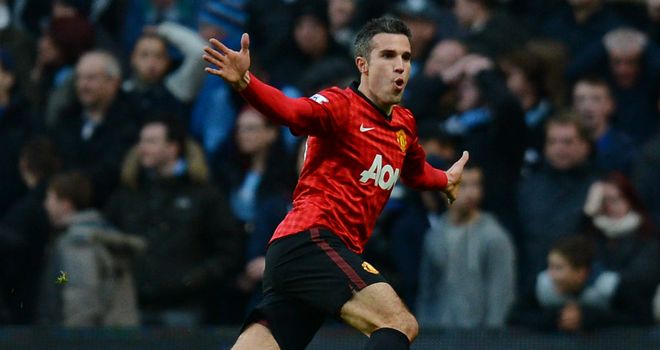 Robin van Persie: Scored from a deflected free-kick in the second minute of injury time