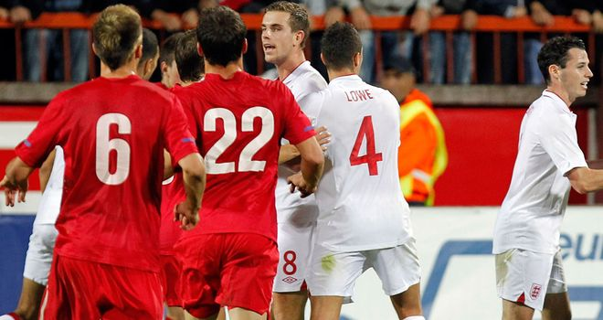 Trouble flared at the England-Serbia U21 game during October