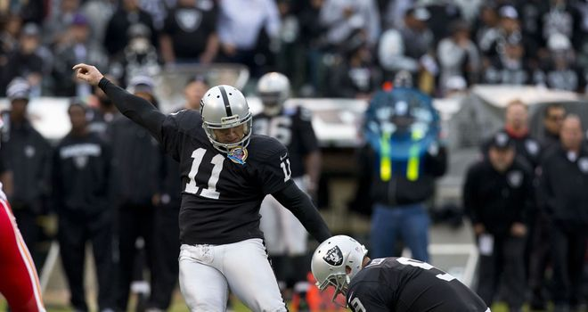 Sebastian Janikowski: Kicked all the points in Oakland's win over Kansas City on Sunday