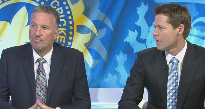 Nasser Hussain and Sir Ian Botham: reckon India just about shaded the opening day