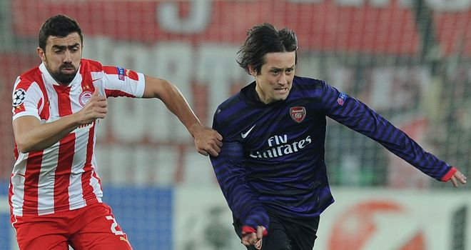 Tomas Rosicky: The midfielder scored in Tuesday's defeat by Olympiakos