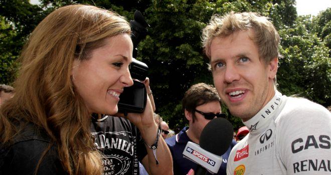New date: Sebastian Vettel talks to Sky Sports F1's Natalie Pinkham at the 2012 Goodwood Festival of Speed