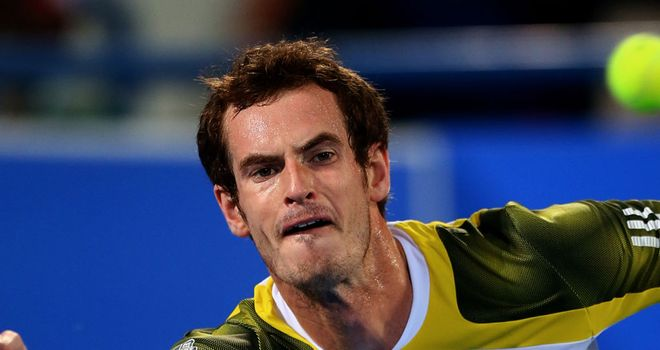 Andy Murray felt the heat in Abu Dhabi
