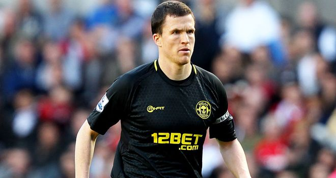 Wigan skipper Gary Caldwell made his return to action at Goodison Park