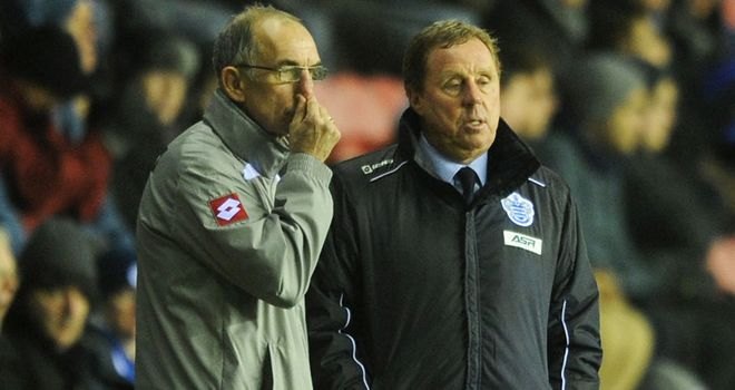 Joe Jordan and Harry Redknapp are trying to guide QPR to safety.