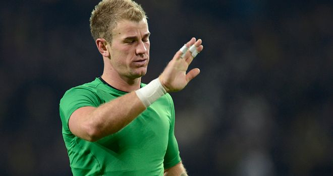 Joe Hart: Goalkeeper has come under fire from Mancini
