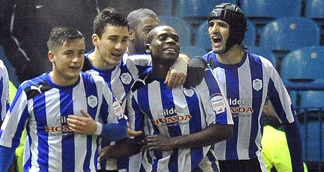 Jeremy Helan: Celebrates after finding the target for Sheffield Wednesday in the win over Charlton