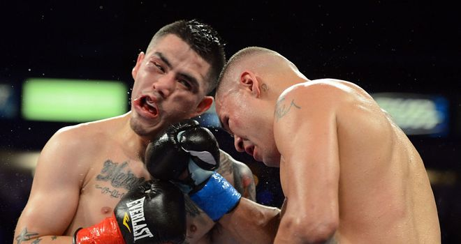 Brandon Rios (L) ready to go to war with Mike Alvarado again