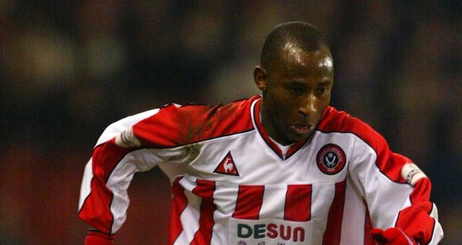 Peter Ndlovu: In action for Sheffield United