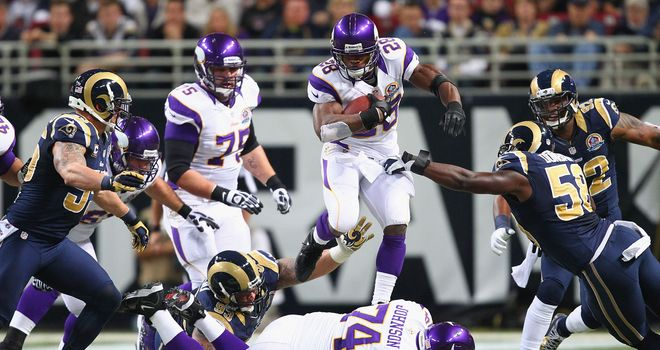 Adrian Peterson: 294 yards shy of breaking the mark of 2,105 set by Eric Dickerson of the Los Angeles Rams