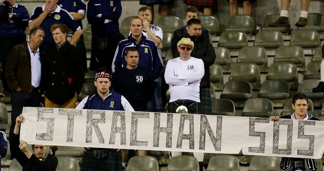 Some Scotland fans vented their anger in October at a World Cup qualifier