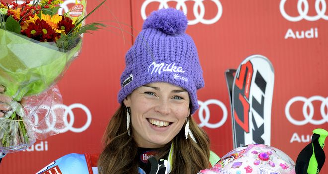 Tina Maze: Maintained 100 percent record in giant slalom this season