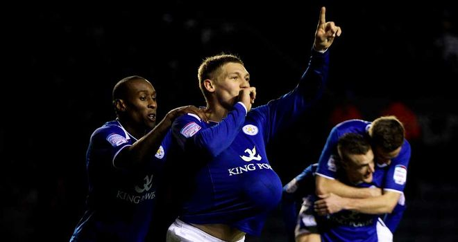 Martyn Waghorn: Celebrating second Leicester goal
