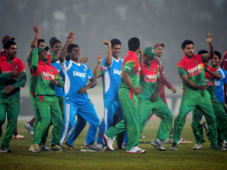 Bangladesh celebrate a recent one-day series victory over West Indies