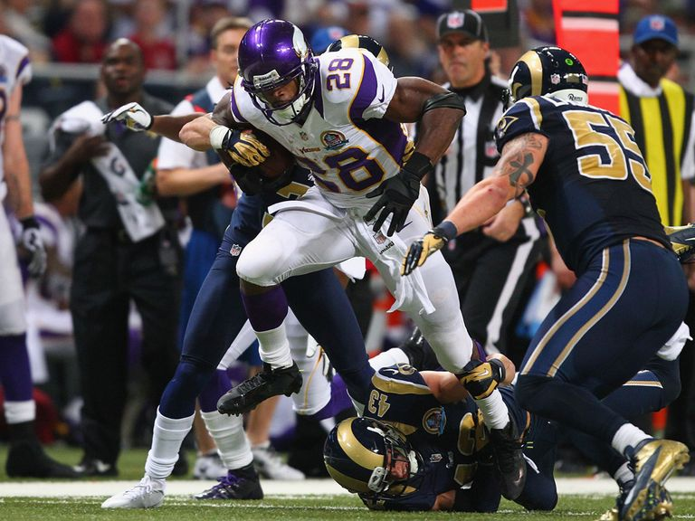 Adrian Peterson: 212 yards on 24 carries for the Vikings