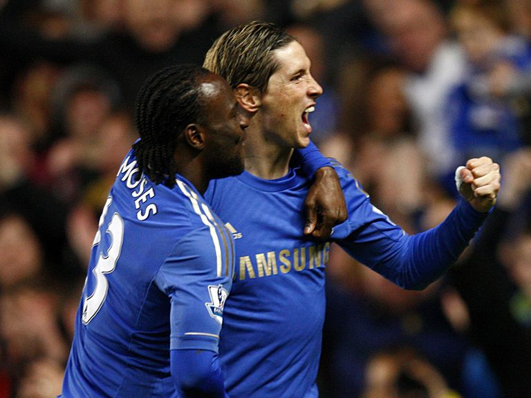 Fernando Torres scored in Chelsea's rout of Aston Villa