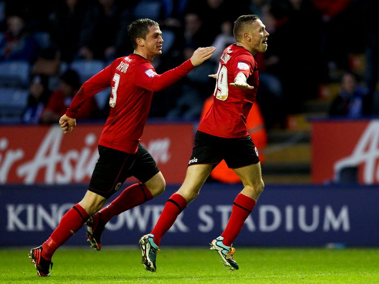 Craig Bellamy celebrate his goal for Cardiff