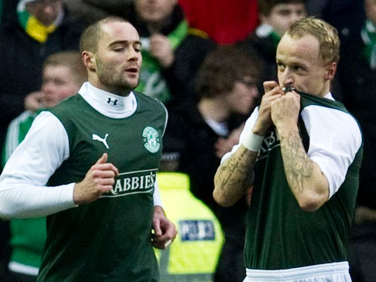 Leigh Griffiths (right): Remain at Hibs for rest of the season