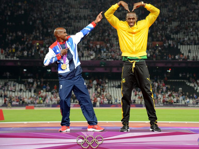 Children were inspired by the likes of Mo Farah (l) and Usain Bolt