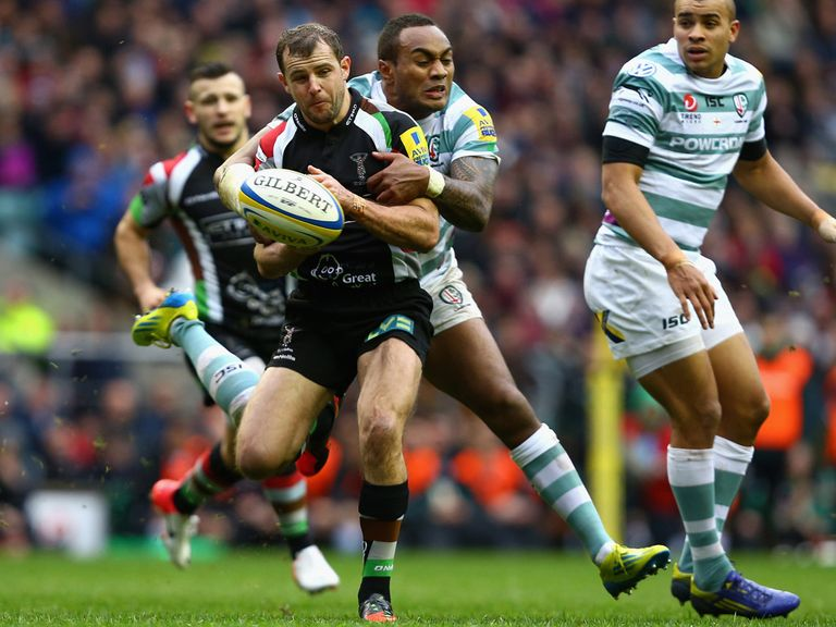 Nick Evans: Kicked 16 points for Quins