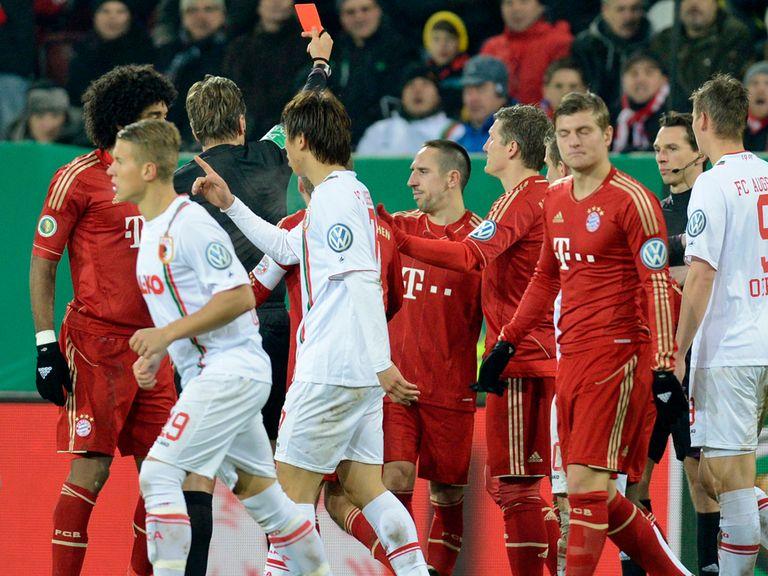 Franck Ribery: Sent off at Augsburg