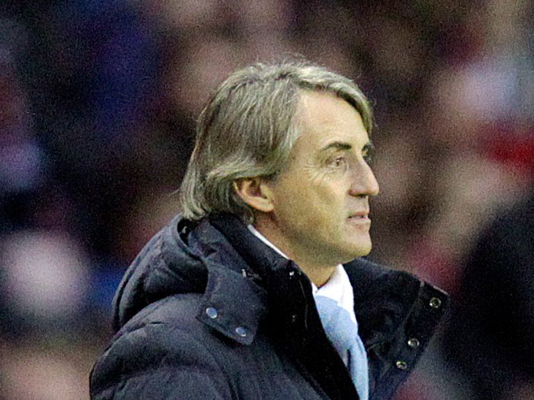 Roberto Mancini: Saw his side lose at Sunderland