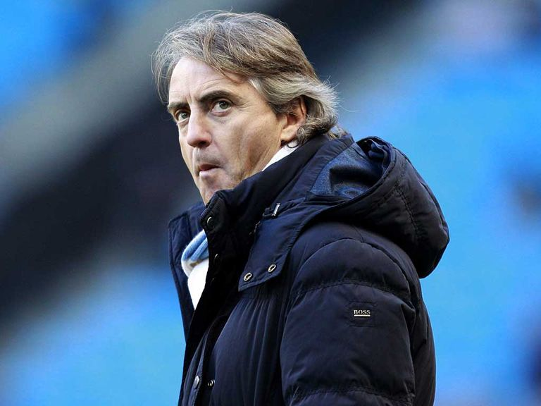 Mancini: Hit back at Fergie