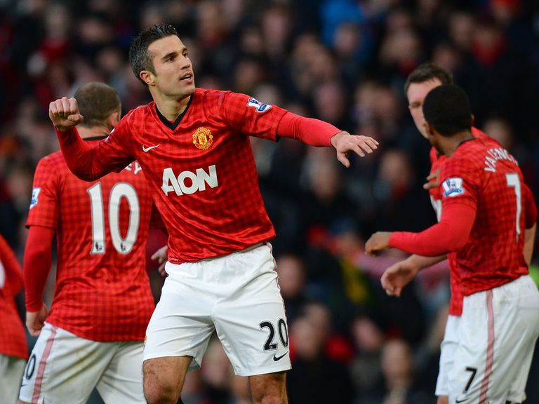 Robin van Persie scored for Man United