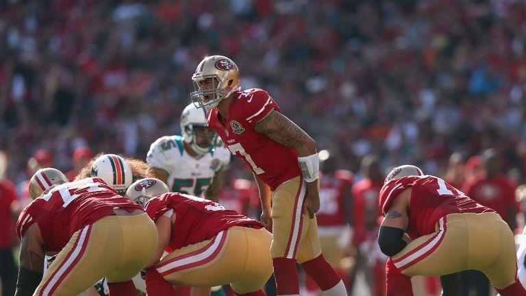 Colin Kaepernick: San Francisco 49ers quarterback calls the signals behind his offensive line