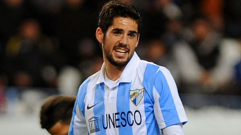 Isco: Enjoying his football at Malaga and is paying little attention to transfer gissip