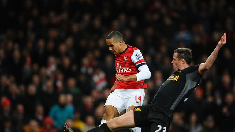Theo Walcott: Drills in the equaliser for Arsenal