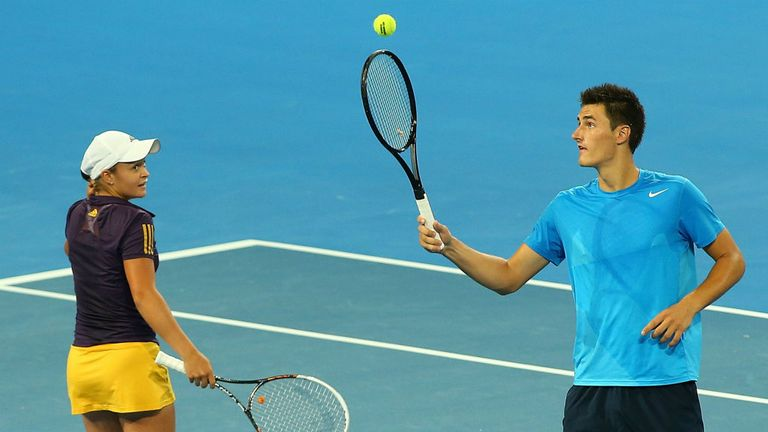 Ashleigh Barty and Bernard Tomic: kept Australia alive in Hopman Cup